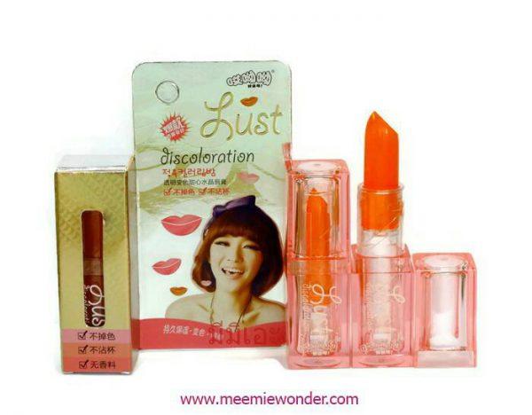 ลิปเปลี่ยนสี ตามอุณหภูมิ Leezi lust lips color No.019