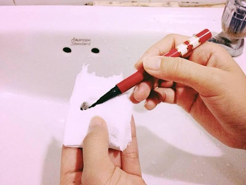 วิธีแก้ เมจิกเขียนคิ้วแห้ง ค่ะ