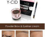 Y-CID Powder Brow and Eyeliner Cream ตลับเขียนคิ้ว และ ขอบตา สวยได้ง่ายๆ ราคาไม่เกิน 100 บาท ขายปลีกส่างเครื่องสำอาง